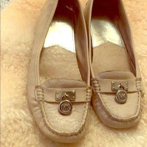 Cream MICHAEL Michael Kors leather flats